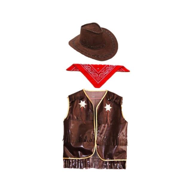Hot Sale! Hat+Vest+ Scarf Western Cowboy Vest Suit 2018 Halloween COS Fancy Dress  sc 1 st  AliExpress.com & Hot Sale! Hat+Vest+ Scarf Western Cowboy Vest Suit 2018 Halloween ...
