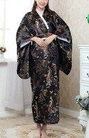 새로운 블랙 패션 일본 여성의 기모노 이브닝 드레스 무료 배송 도매 및 소매 크기