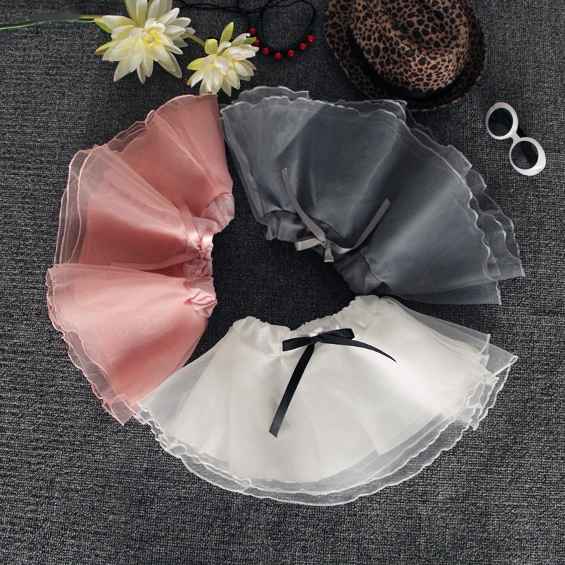 2016 New Arrival Kids Pleated Skirt Half-length Organza Veil Sweet Girl Tutu Skirt On Sale (2)