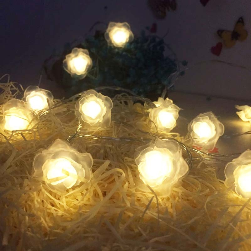 SVELTA 30M LED String Lights Rose Flower Garland Christmas Xmax Fairy Lights For New year Holiday Wedding Valentine Decoration rose flower led garland on batteries string light valentine s day christmas indoor celebration wedding decoration fairy lights