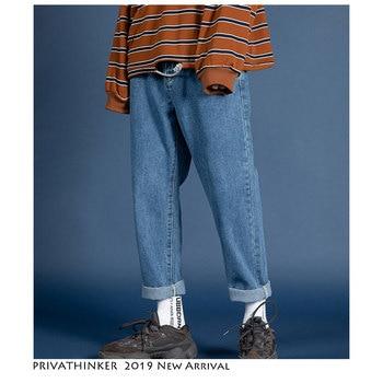 Privathinker Männer Streetwear Blau Jeans 2020 Frauen Schwarz Jeans Koreanische Mode Harem Hosen Männlichen Denim Hosen Übergröße