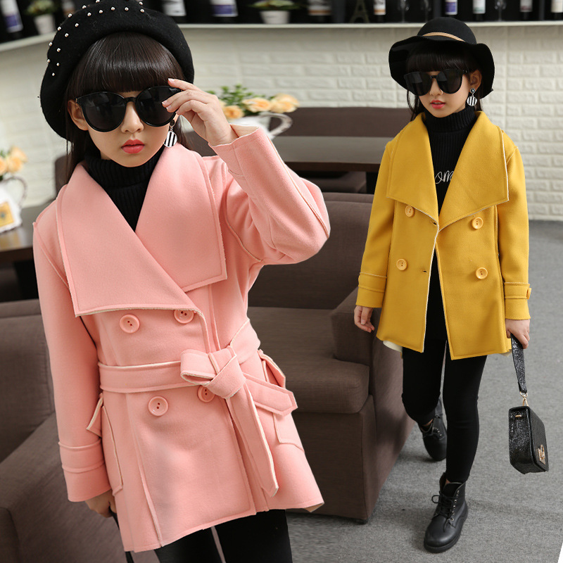 2017 children's clothing fashion girl autumn coat in the big child long section windbreaker 3-12 years old baby girl clothes girl child betrothal and human capital formation in ghana saboba