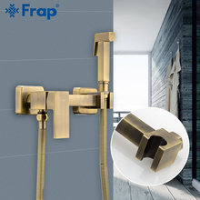 FARP Bidet faucets bathroom faucets hot and cold water mixer shower head wash toilet faucet wall mounted bronz bidet sprayer set golden black bath shower set faucet in wall rainfall head bathroom shower mixer swivel spout toilet sprayer bidet shattaf head