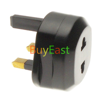 Free Ship UK to EU/US Travel Adaptor Type G Power Plug Adapter Black Color