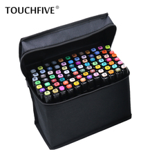 Touchfive 36/48/60/72 Colors Artist Double Headed Marker Set Oily Alcoholic Sketch Art Markers Pen For Animation Manga Design