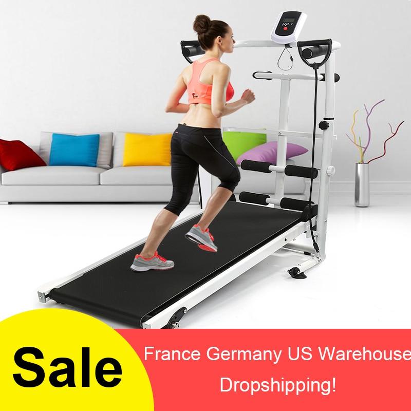 2018 New Mechanical Treadmill Mini Folding Running Training Fitness Treadmill Home sports fitness Equipment