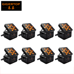 China DJ Equipment 8XLOT Rechargeable Lithium-ion Battery Wireless Led Par Light RGBWA 5IN1 DMX 512 Control 5/9 Channel 110-240V