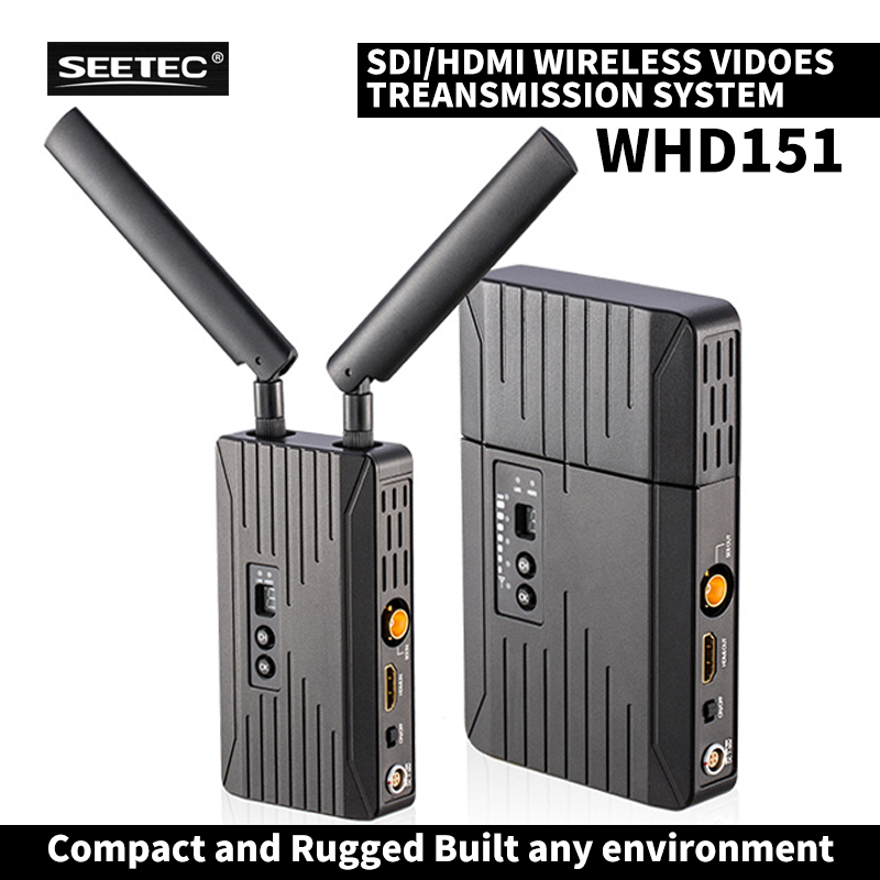WHD151 150m SDI/ HDMI Wireless Video Transmission System 1080P HD Video TV Broadcast Transmitter And Receiver for filmmaking niorfnio portable 0 6w fm transmitter mp3 broadcast radio transmitter for car meeting tour guide y4409b