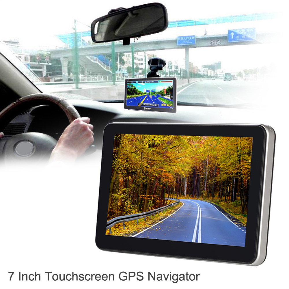 7 Truck Car GPS Navigator w/ Free Map Auto FM Transmitter Bluetooth Car-charger Touch Screen Music MP3 Player for Automobiles niorfnio portable 0 6w fm transmitter mp3 broadcast radio transmitter for car meeting tour guide y4409b