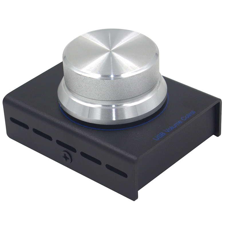 Usb Volume Control, Lossless Pc Computer Speaker Audio Volume Controller Knob, Adjuster Digital Control With One Key Mute Func