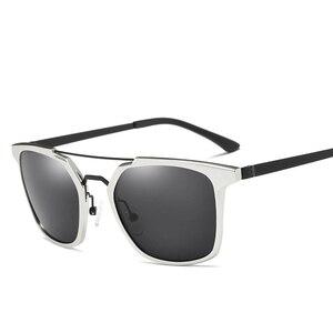 Image 5 - 2019 New Men Polarized Rimless Aluminum Sunglasses Driving Fishing Polarised Eyewear Rectangle UV400 Sun Glasses Anti Glare 8639