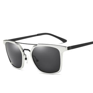 Image 5 - 2019 ผู้ชายใหม่ Polarized Rimless แว่นตากันแดดอลูมิเนียมตกปลา Polarized แว่นตาสี่เหลี่ยมผืนผ้า UV400 Sun แว่นตา Anti   Glare 8639