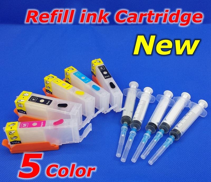 PIXMA MG6840 MG5740 TS5040 printer PGI470 CLI471 refill ink cartridge 5pcs PGI 470 CLI 471 Empty