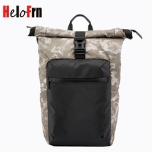 HeloFrn Camouflage Men Backpack Waterproof Large Capacity Fold Bag For Laptop 15.6 Inch Travel Male Mochila