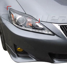 Carbon Fiber Front Headlight Cover Eyelid Eyebrow For Lexus IS250 IS300 2006-2012