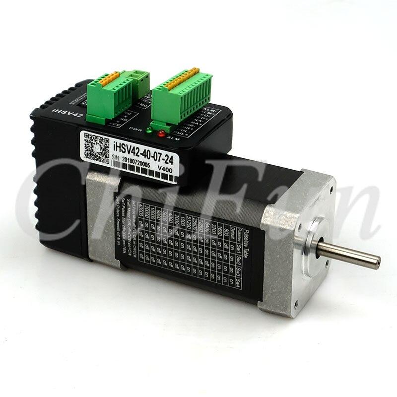 JMC Three phase iHSV42 40 07 24 578W 0 185Nm 4000rpm Integrated AC Servo Motor Driver