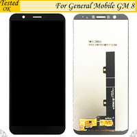 100% Tested OK For General mobile GM 8 GM8 LCD Display +Touch Screen Digitizer Assembly Replacement Accessories For GM 8 LCD
