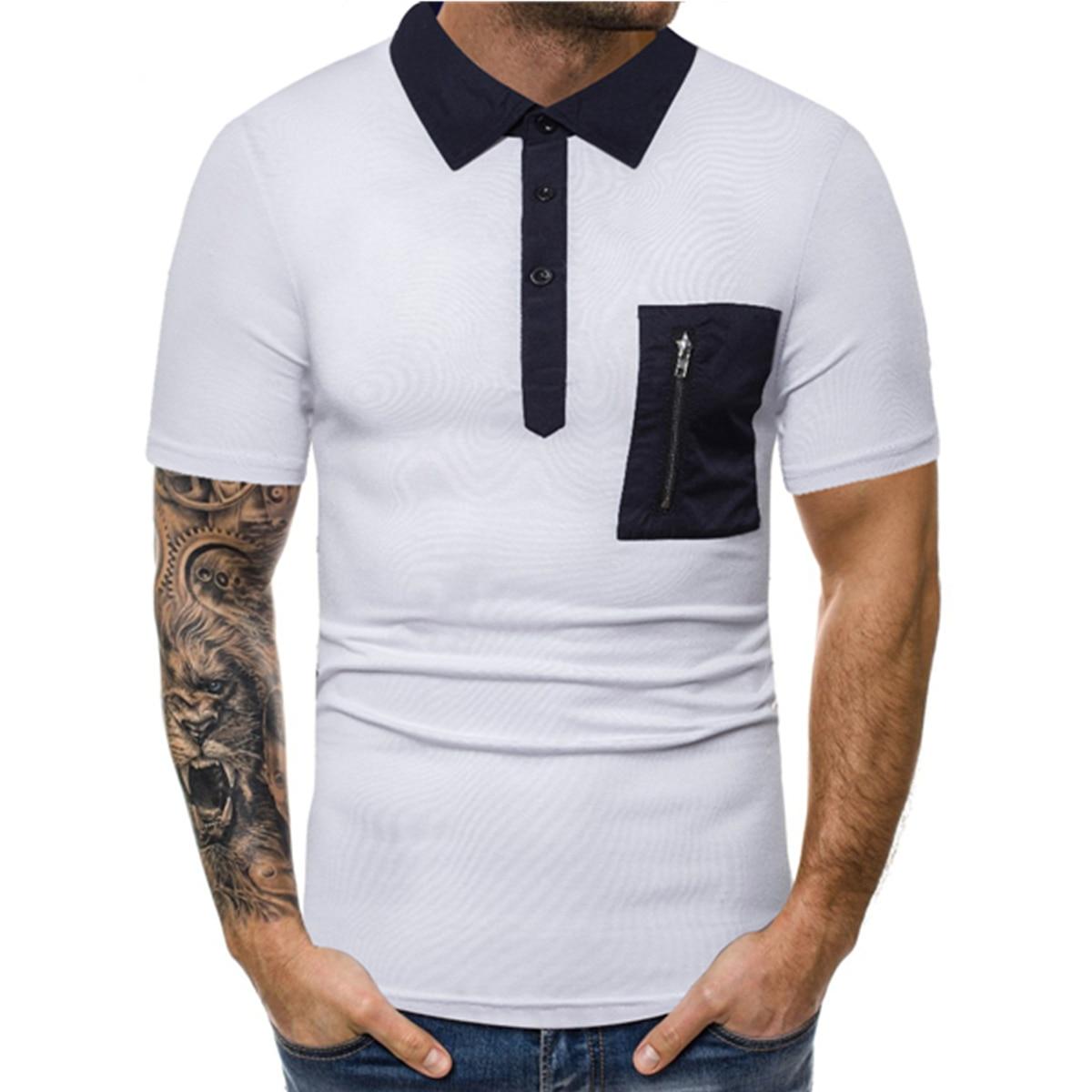 Mens Polo Shirts Summer Short Sleeve