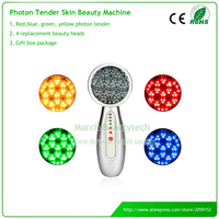 4 In 1 Skin Whitening Tightening Anti Acne Wrinkle Removal Green Blue Red Yellow Led Lights