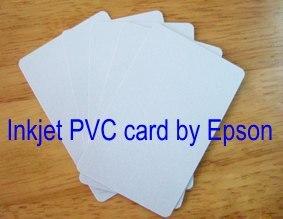 Double Double face jet d'encre impression blanc blanc 0.76mm mince jet d'encre PVC carte d'identité par imprimante à jet d'encre, 230 pcs/lot