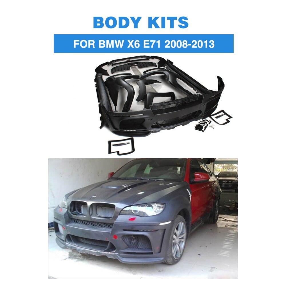FRP noir accessoires de voiture Kits de carrosserie pour BMW X6 E71 2008-2013FRP noir accessoires de voiture Kits de carrosserie pour BMW X6 E71 2008-2013