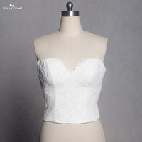 RST5 Real Pictures Yiaibridal Sweetheart Neckline Vintage Lace Top Only Wedding Lace Corset