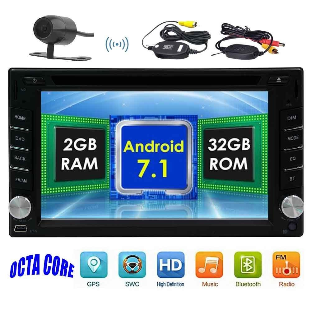 Car audio DVD player 2 DIN Android 7.1 2din Bluetooth wireless phone support GPS navigation 3G, 4G WiFi OBD2 wireless backup cam