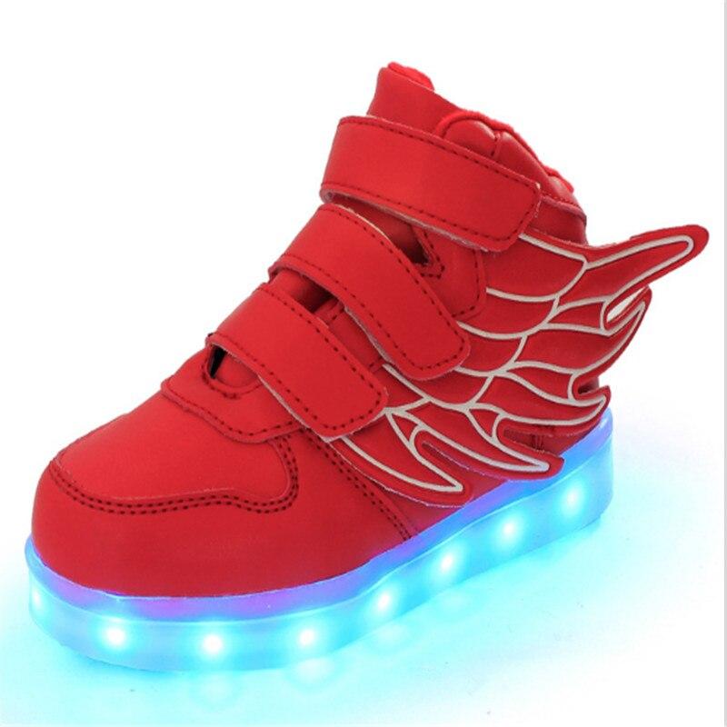 JIAN DIAN Anak-anak USB Pengisian Sepatu Basket Menyala Sepatu Kasual Boys & Girls Led Sneakers Sepatu Bayi 25-37 Plus Ukuran