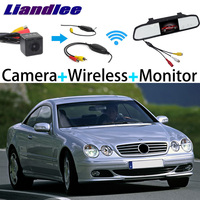 Liandlee 3in1 Wireless Receiver Mirror Monitor Special Rear View Camera Backup For Mercedes Benz CL Class MB C215 W215 1999~2006