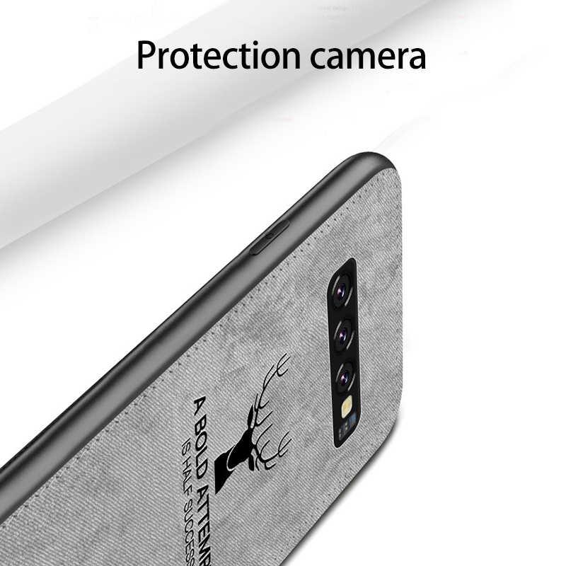 Samsung S10 Artı Kılıf Orijinal CENMASO Kumaş Dokusu Samsung Galaxy Not 9 için Samsung kılıfı S8 S9 S10 Artı S10e kılıf