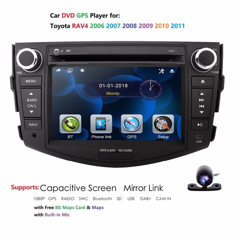 2006-2011 PER TOYOTA RAV4 Auto Lettore DVD 2 DIN GPS Navigator Stereo Radio della Macchina Fotografica 7 pollici Monitor GPS di navigazione Stereo Posteriore della macchina fotografica