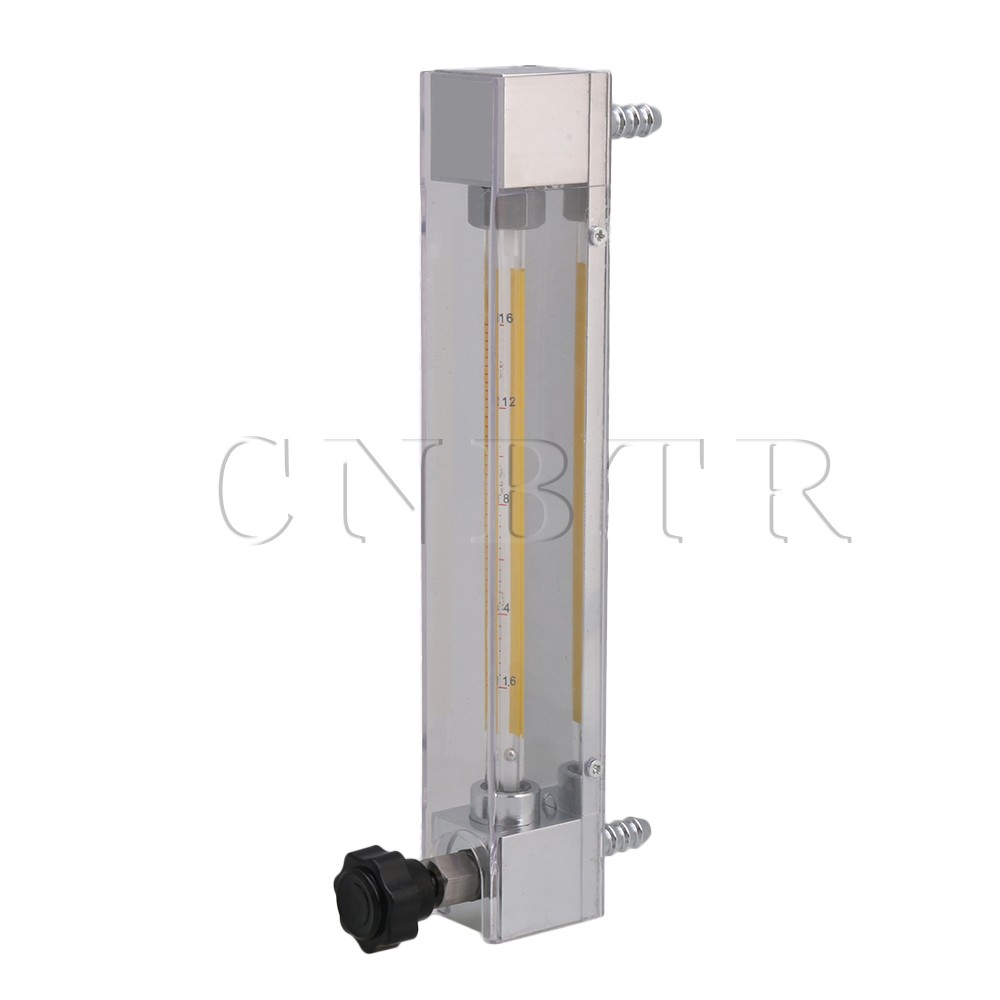 CNBTR LZB-4 1.6-16L/h Clear Flow Meter for Water Gasoline Liquid Flow Rate with Control Valve lzb 2 glass rotameter flow meter with control valve for liquid and gas conectrator it can adjust flow