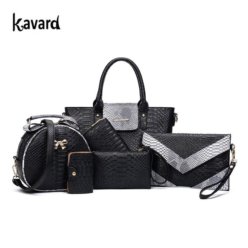 Luxury Brand Women Bags font b Set b font Women Leather font b Handbags b font