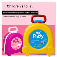 New Arrival Baby Travel Potty Seat Kids Children 2 in1 Portable Toilet Seat For Outdoor Travel Children's toilet urinal Training