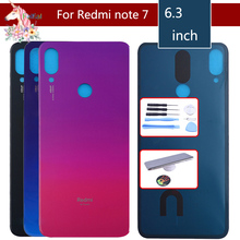 For Xiaomi Redmi note 7 7pro Battery Cover Back Glass Panel Rear Door Housing Case For Redmi note 7 pro Back battery Cover door for xiaomi redmi note 6 pro case 360 degree full body cover case for xiaomi redmi note 6 pro hybrid shockproof case glass film
