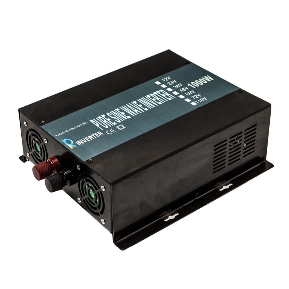 цена на 1000W Solar Inverter 12 220 Pure Sine Wave Power Inverter Generator Car Battery Pack Converter 12V/24V DC to 110V/120V/240V AC