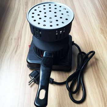 650W Metal Electric Charcoal Burner Including Removable Tray + Tongs Thickened Charcoal Stove for Household Heater Hot Plates Hot Plates