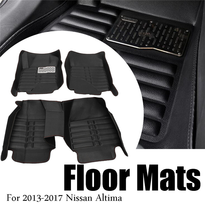 Waterproof Car Floor Mats For Honda CRV 2007 2008 2009 2010 2012 Front & Rear PU Leather Liner Carpets Interior Accessories auto floor mats for honda cr v crv 2007 2011 foot carpets step mat high quality brand new embroidery leather mats