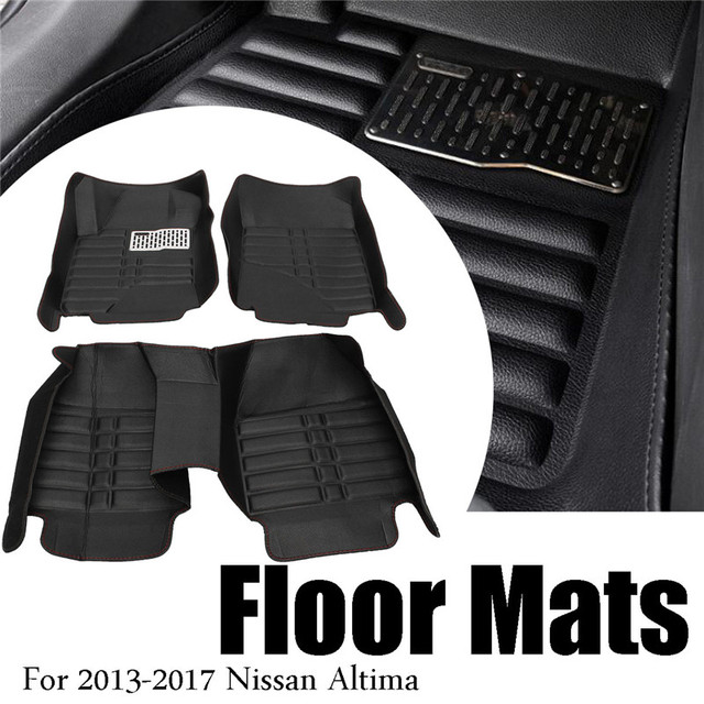 Waterproof Car Floor Mats For Honda CRV 2007 2008 2009 2010 2012 Front & Rear PU Leather Liner Carpets  Interior Accessories