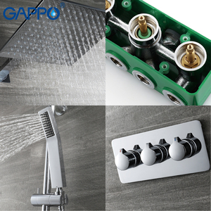 Image 3 - GAPPO shower faucet concealed shower mixer rainfall massage showers bathroom shower bath sets system bathtub faucets