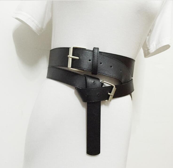 Women's Runway Fashion Pu Leather Cummerbunds Female Dress Corsets Waistband Belts Decoration Wide Belt R1553