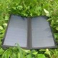 Powergreen acessórios ao ar livre 14 w solar charger 2 portas usb painel solar power bank carregamento rápido para iphone e muito mais