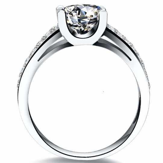 วินเทจโบราณ1 CTสดใสนะสังเคราะห์เพชรแหวนหมั้นซูเปอร์สตาที่ดีที่สุดรักสไตล์ผู้หญิงแหวนแต่งงาน