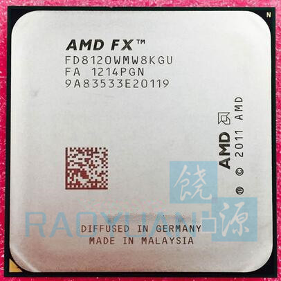 AMD FX-Series FX-8120 FX 8120 3.1 GHz Eight-Core CPU Processor 95W FX8120 FD8120WMW8KGU Socket AM3+