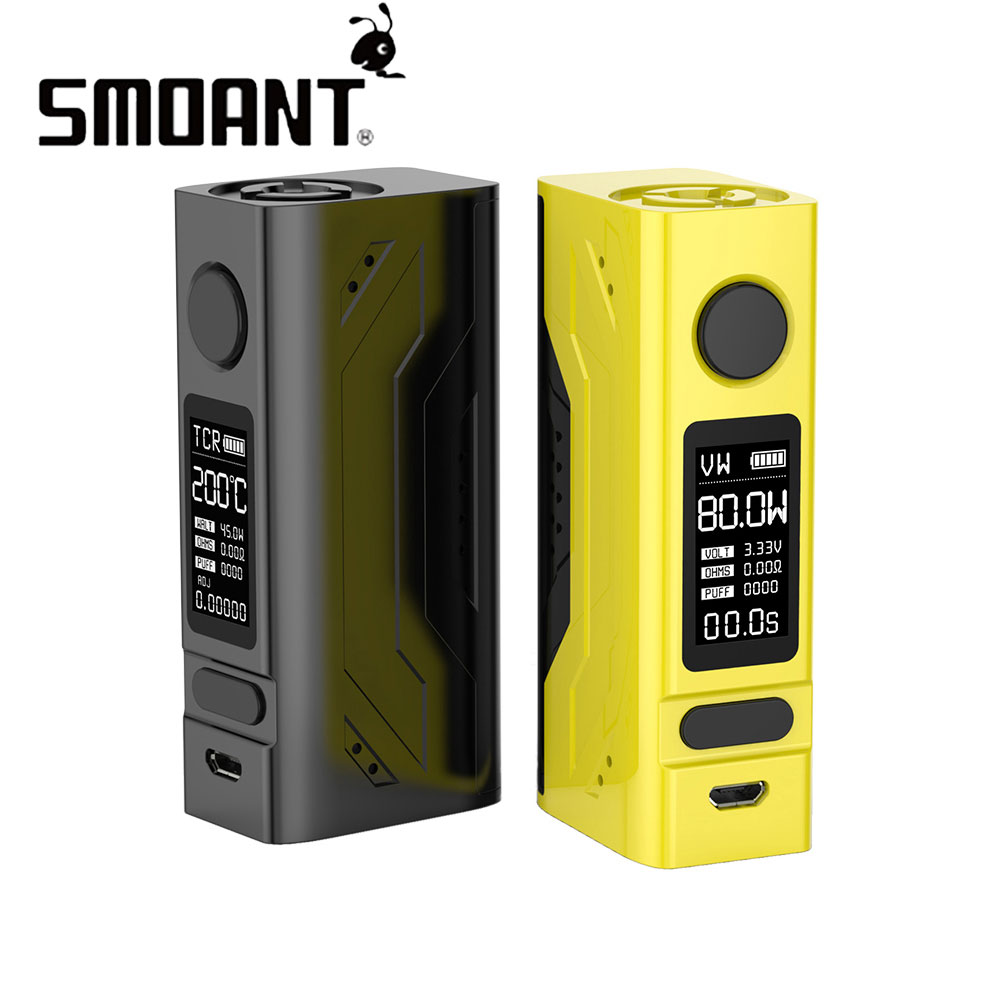 Original Smoant Battlestar Mini 80W TC Box MOD With 0.96 Inch OLED Display Max 80W Output Power By One 18650 Battery No Battery