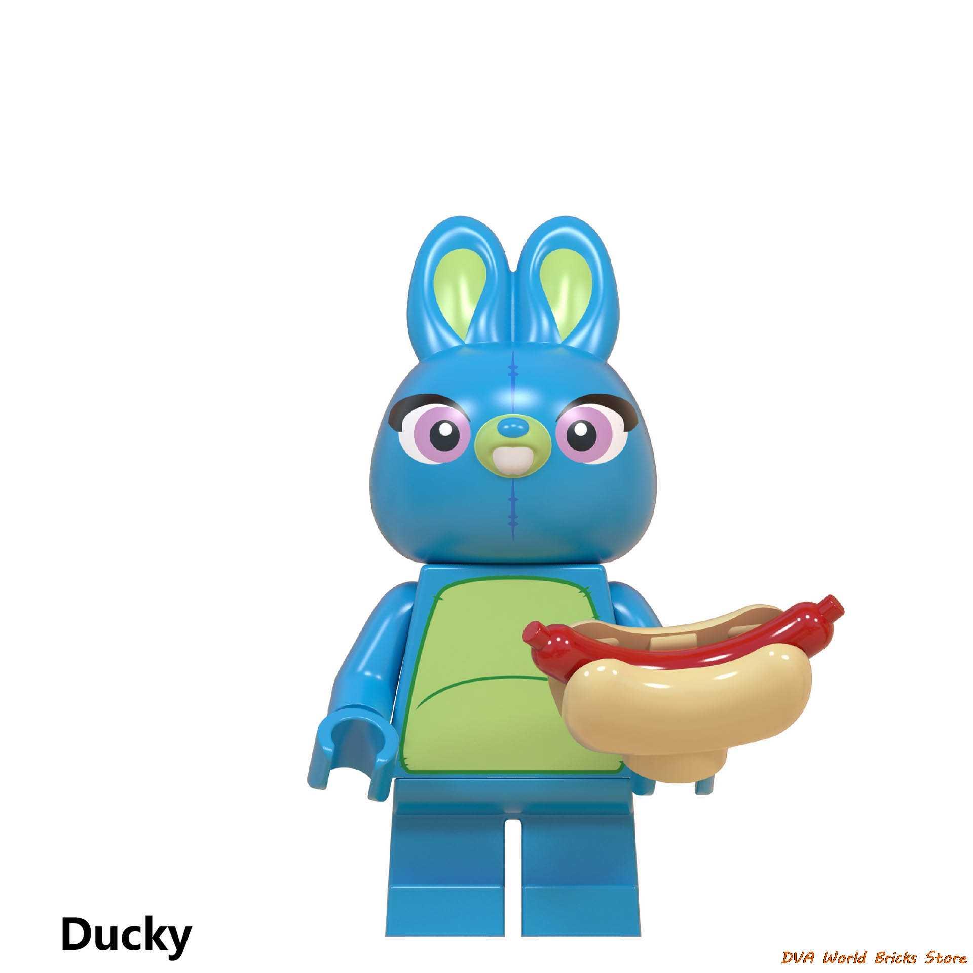 Mainan Cerita 4 Angka Woody Forky Buzz Lightyear Gaby Merah Hati Alien Jessie Bo Peep Ducky Caboom Blok Bangunan Teman batu Bata
