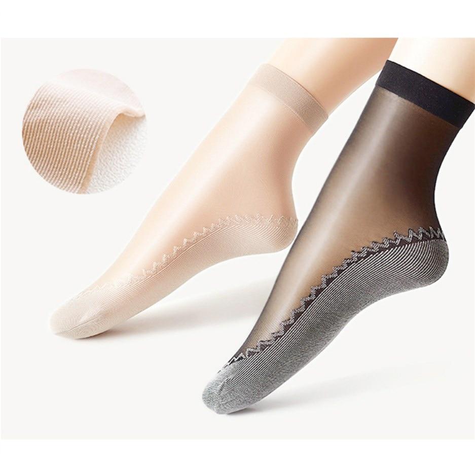 Summer Autumn Sports Yoga Socks Women Thin Crystal Transparent Silk Breathable Socks Girl Ankle Sexy Design Lady Socks