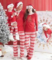 2017 Family Christmas Pajamas Family Matching Clothes Matching Mother Daughter Clothes Father Son Mon New Year