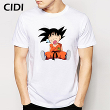 Dragon Ball GOKU Kind Design T-shirt Kurzarm Oansatz Kostenloser Versand Canada Baumwolle Tops Grappige T-shirts(China)