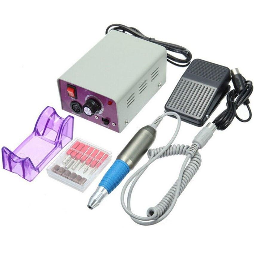 Nail Drill Machine Set 25000RPM Electric Grinding Pen File Cut Polish Cuticle Milling Speed Control Nail Art Manicure Pedicure